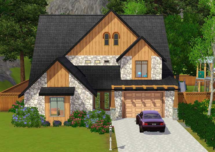 Mod the sims 39 golden slumbers 39 large family house for Big family house