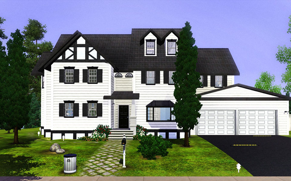 White Wood House : Mod The Sims - The White Wood House (with split level stairs, 4 levels ...