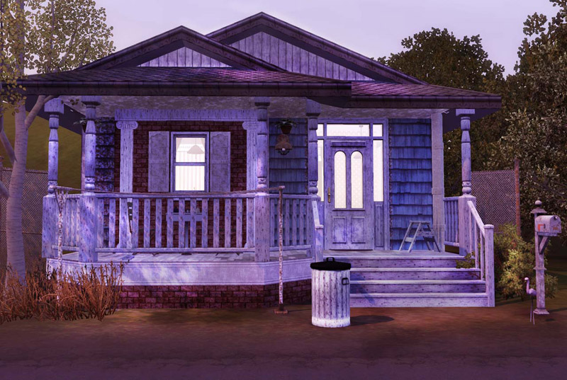 Mod the sims old brickwood iii worker 39 s house for Classic house sims 4