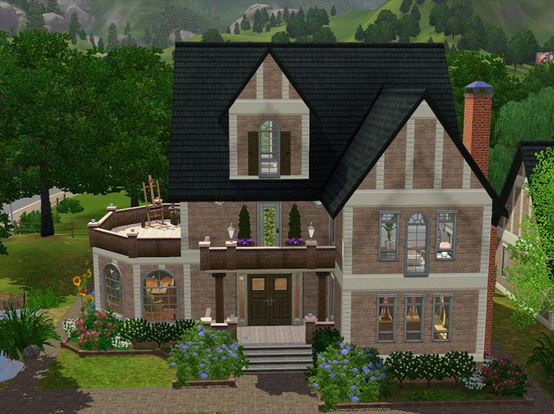 Mod the sims hampton house fully decorated 4 bedroom for Fully decorated homes