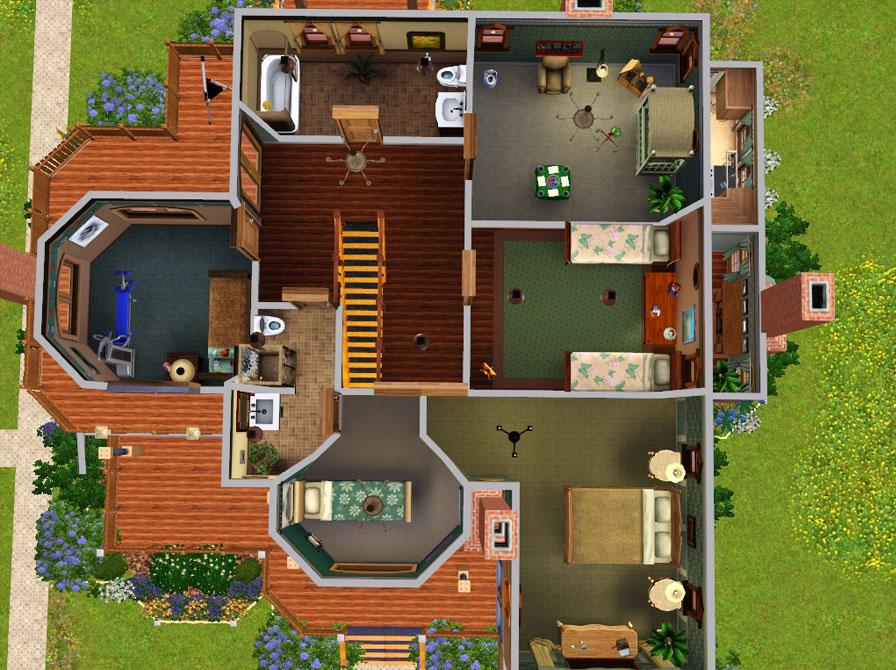 MTS2 ruthless kk 959307 second floor plan - 39+ Sims 4 Small Victorian House Plans Pictures