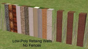 Mod The Sims Low Poly Retaining Walls A K A Slope