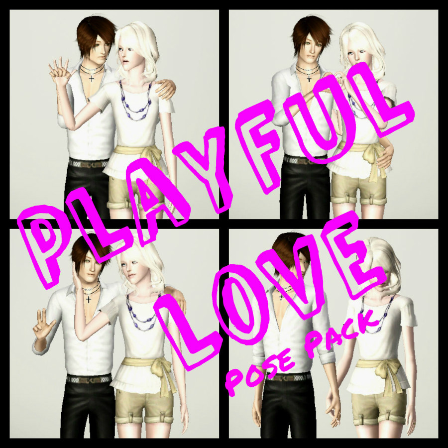 My Sims 3 Poses: Playful Love Pose Pack by Alice of Hearts