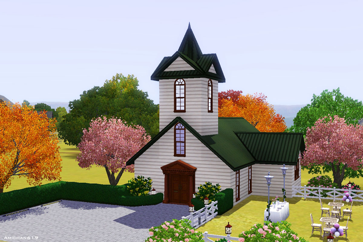Quaint Little Chapel Set (three Wedding