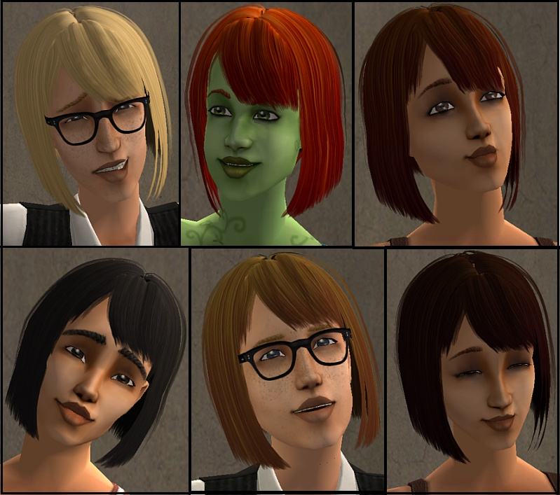 Sims 2 Hairstyles: 2 Maxis Match Sets Of New Sea Hair