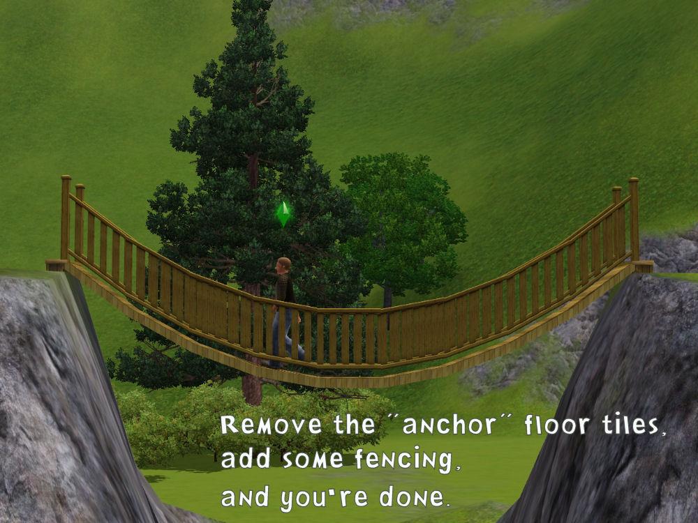 Sims  How To Build A Bridge Cfe