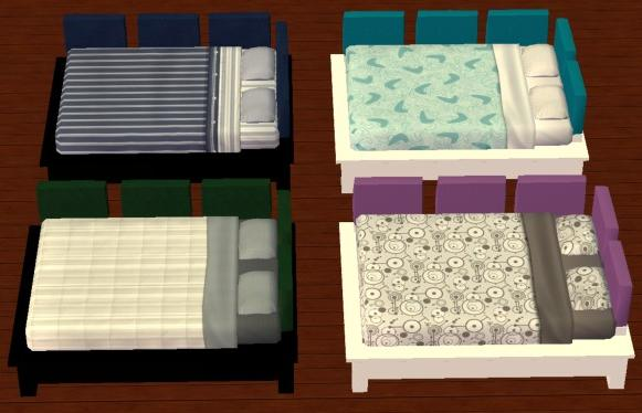 Mod the sims more colors for the pottery barn teen bed for Pottery barn teen paint colors