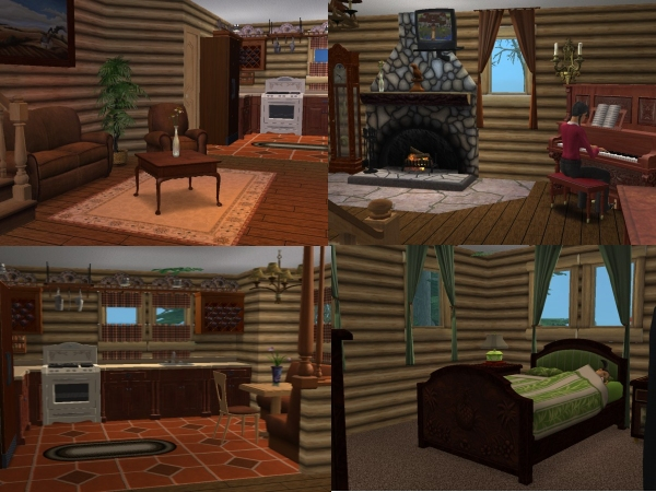 Mod the sims log cabin for Cabin lots