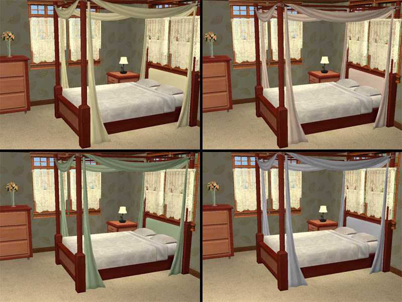 How To Use A Four Poster Bed Canopy To Good Effect: Bon Voyage Bedroom Recolours (+ New Bedding