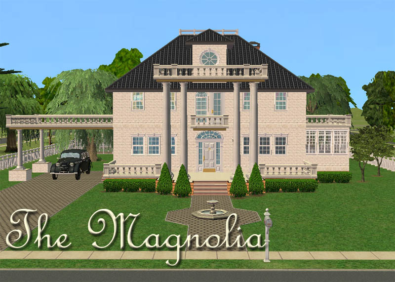 Mod the sims the magnolia sears modern homes 1915 1920 for Sims 2 home designs
