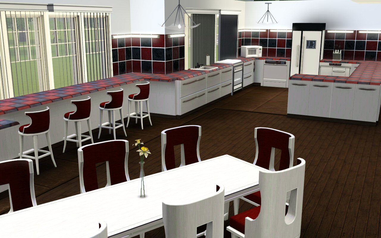 Mod the sims the kenmore manor for Kitchen ideas sims 4