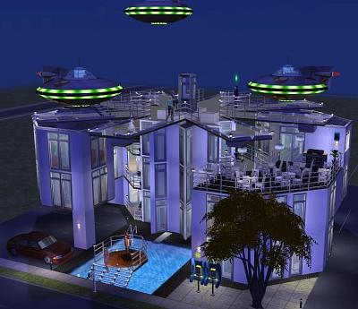 Mod The Sims - From the Sims 2 exchange: Spaceport by