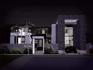 Mod the sims modern beach house no cc for Beach house 3 free download