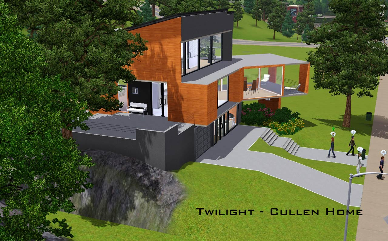 Mod the sims twilight the cullen home for Twilight cullen house