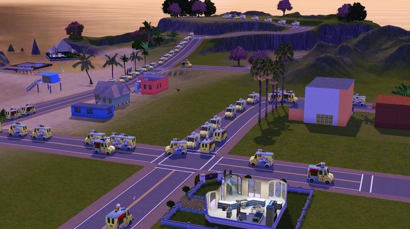 Mod The Sims - Hundreds of creepy ice cream trucks crashing