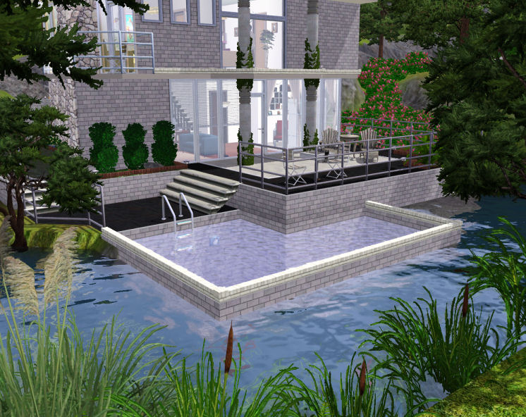 Mod the sims tutorial how to build a pool in a lake for Pool designs sims 4