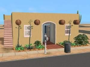 Mod the sims desert mini basegame adobe cabin for 12 000 for Adobe roof