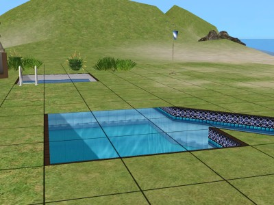how to build curved pool sims 3