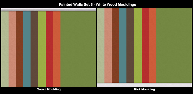Mod The Sims - Painted Walls-Series 03- With Assorted Wood ... Sims 1 Walls