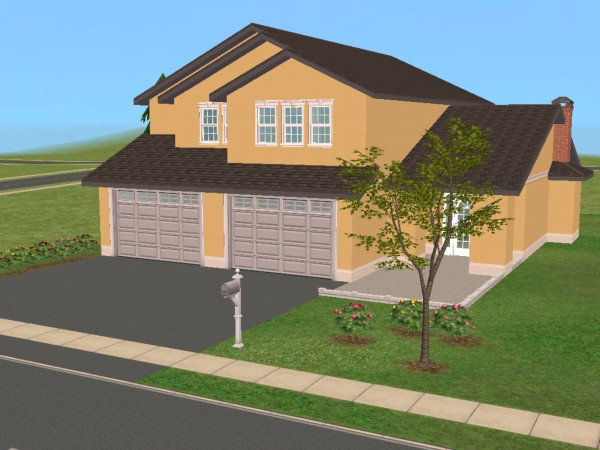 Mod the sims 25 maple street 2 story family home based for 2 story family house plans