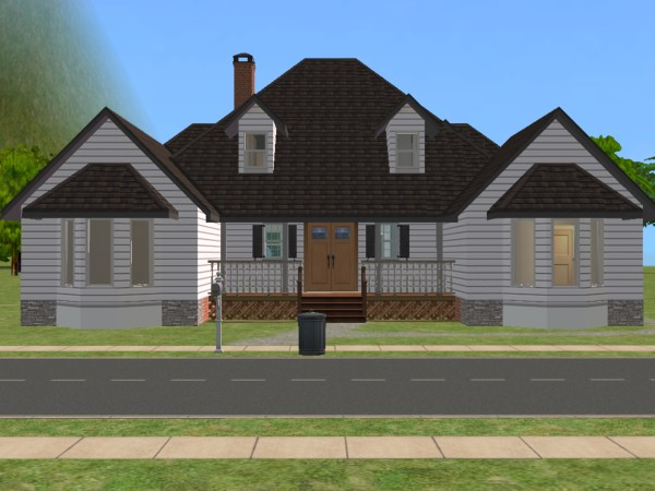 Mod the sims the lewisburg 3br 2ba 33 300 3x3 no cc for 3br 2ba house plans