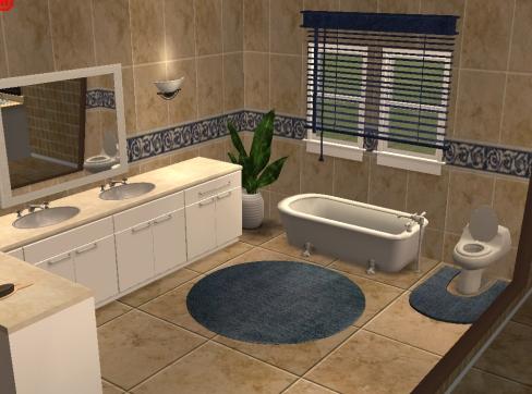 Mod The Sims Neutral Colored Ceramic Tile Sets Amazing Beige Tiled Bathrooms Set