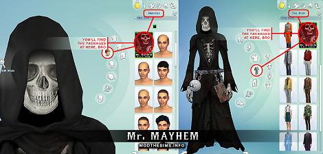 Mod The Sims New Mesh Costume Bloody Reaper Costume