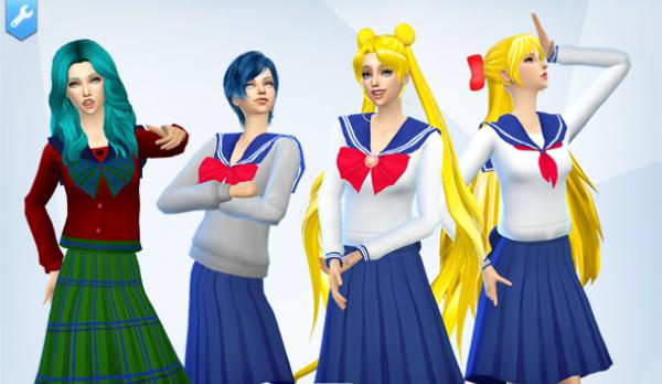 Mod Sims Sailor Moon School Uniform