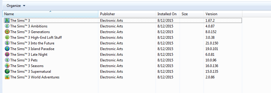 Mod The Sims -  Package files MOSTLY not showing up