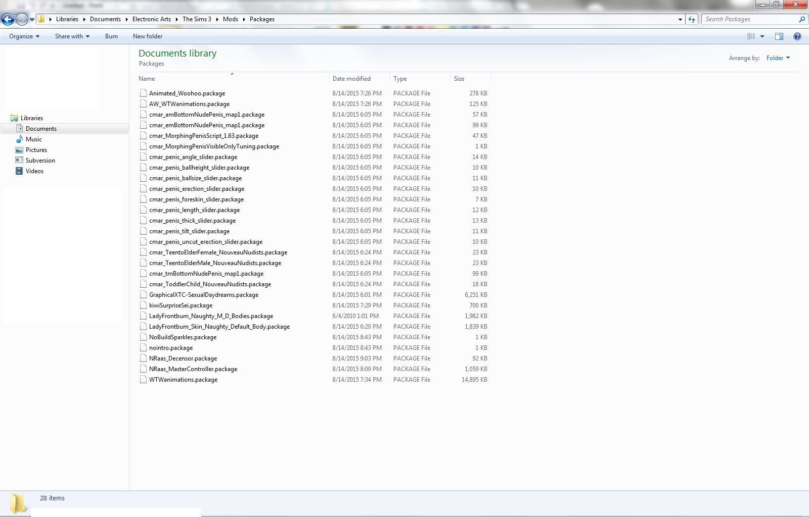 sims 3 how to download mods and package files