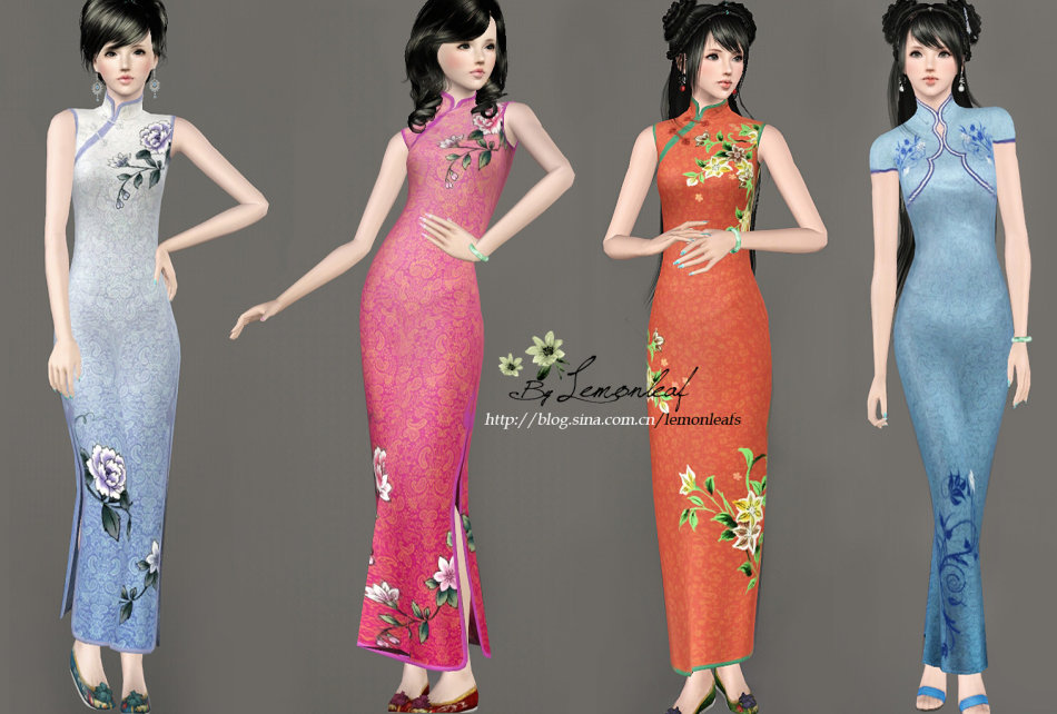 4405404242 Mod The Sims - WCIF  Cheongsam N2 by Lemonleaf  Solved
