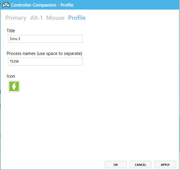 Sims 3 Xbox Controller Profile for Controller Companion