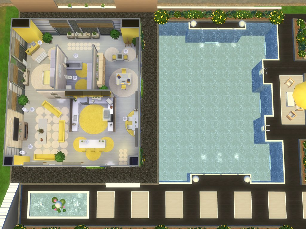 Mod the sims modern sunshine no cc for Planos de casas sims