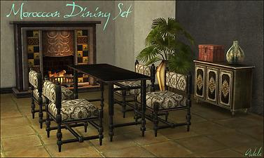 moroccan living room sets mod the sims moroccan dining living set 17039
