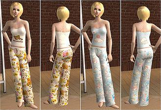 Mod The Sims - Adult Female Pajamas Recoloured