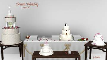 Adver Description Files 2 Install Instructions Mod The Sims Dream Wedding Cakes