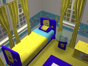 spongebob bedroom set mod the sims spongebob squarepants bedroom kenny s 13381