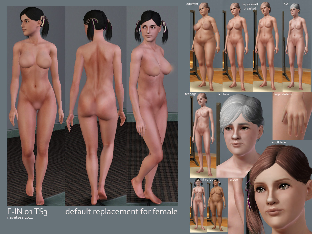 the sims 3 naked